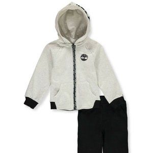 Timberland Boys 2-Pc Fleece Sweatshirt & Pants